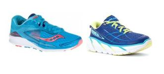 Photos by (L to R) Saucony and Hoka
