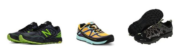 Photos by (L to R) New Balance, Topo, & Inov-8