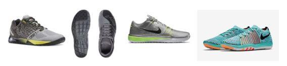 Photos by (L to R) Reebok, Inov-8, & Nike